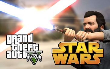 Grand Theft Auto 5 es mejor con sables de luz de Star Wars